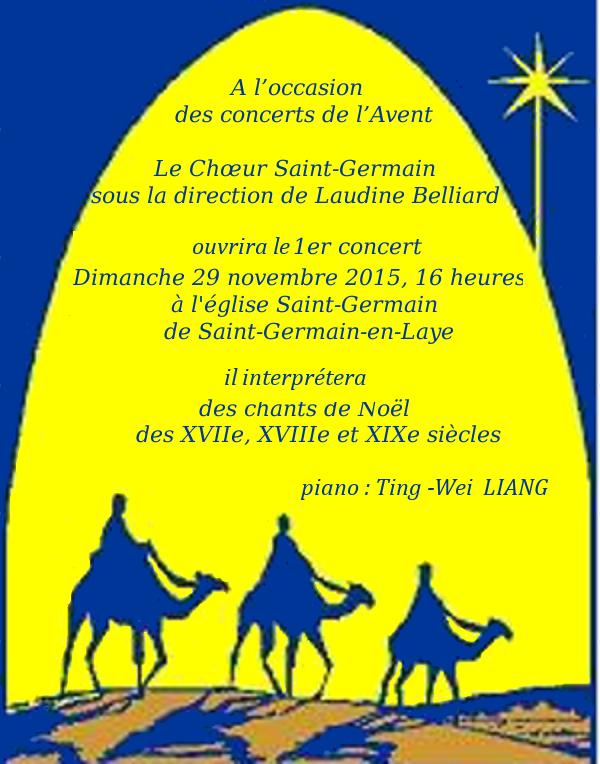 Annonce du Concert de l'Avent 2015