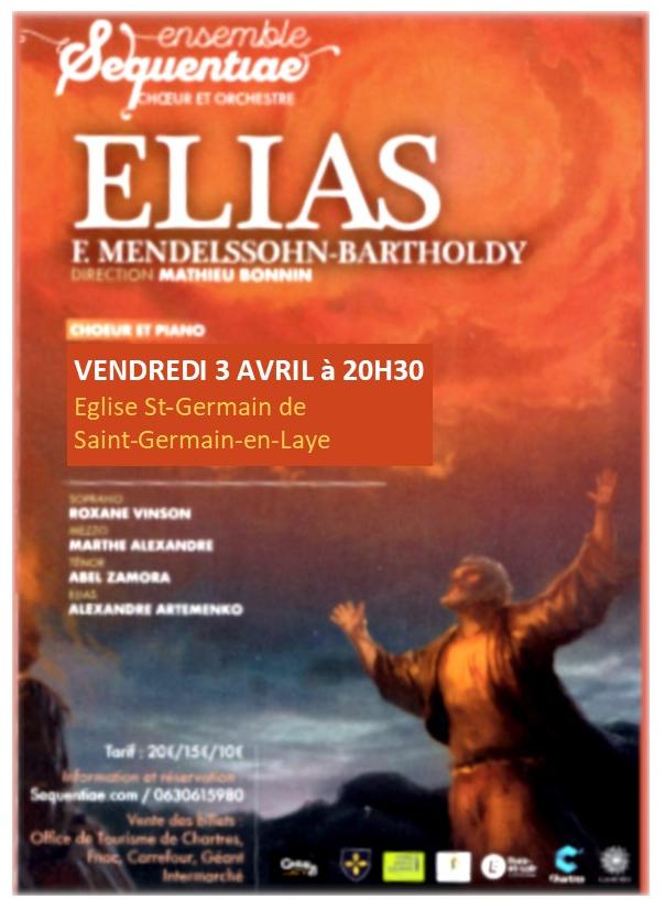 Concert 3 avril 2020 ELIAS, Mendellsohn St-Germain