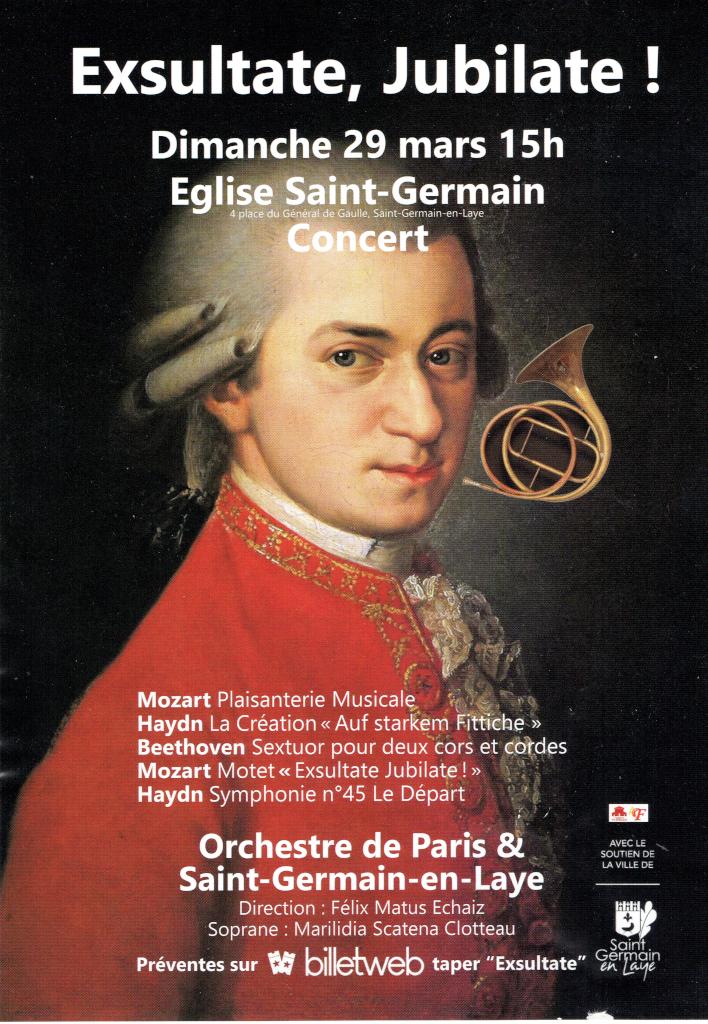 Concert 29 mars 2020 Orchestre Paris & St-Germain