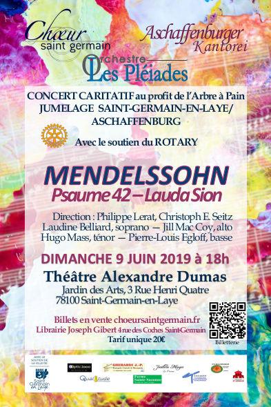Concert caritatif choeur Saint-Germain jumelage 9 juin 2019